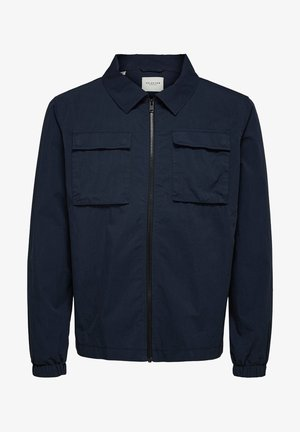 Summer jacket - mottled dark blue