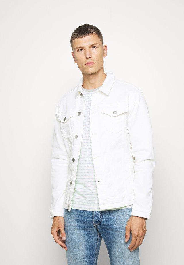 SLHJEPPE - Jeansjakke - white denim