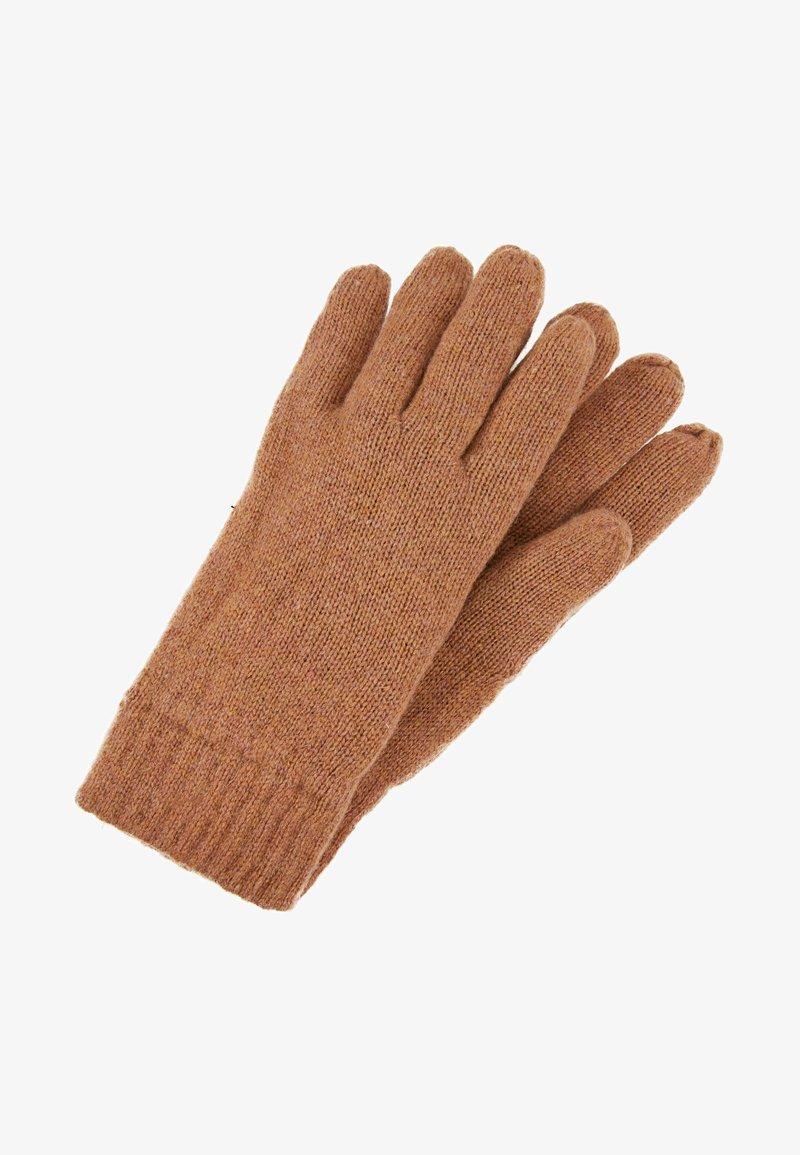Selected Homme - SLHNEWWOOL GLOVE  - Gloves - camel melange