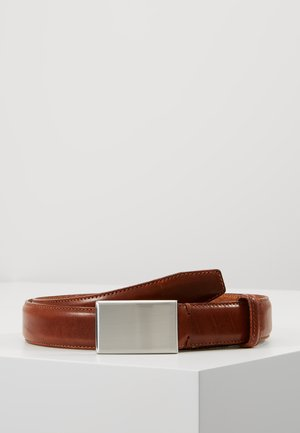 SLHFILLIP FORMAL PLATE BELT - Pasek - cognac