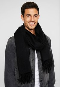 Selected Homme - SLHTIME SCARF  - Écharpe - black - 0