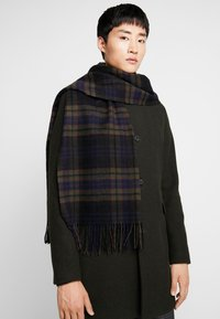 Selected Homme - SLHTIME SCARF CHECK  - Huivi - black - 0