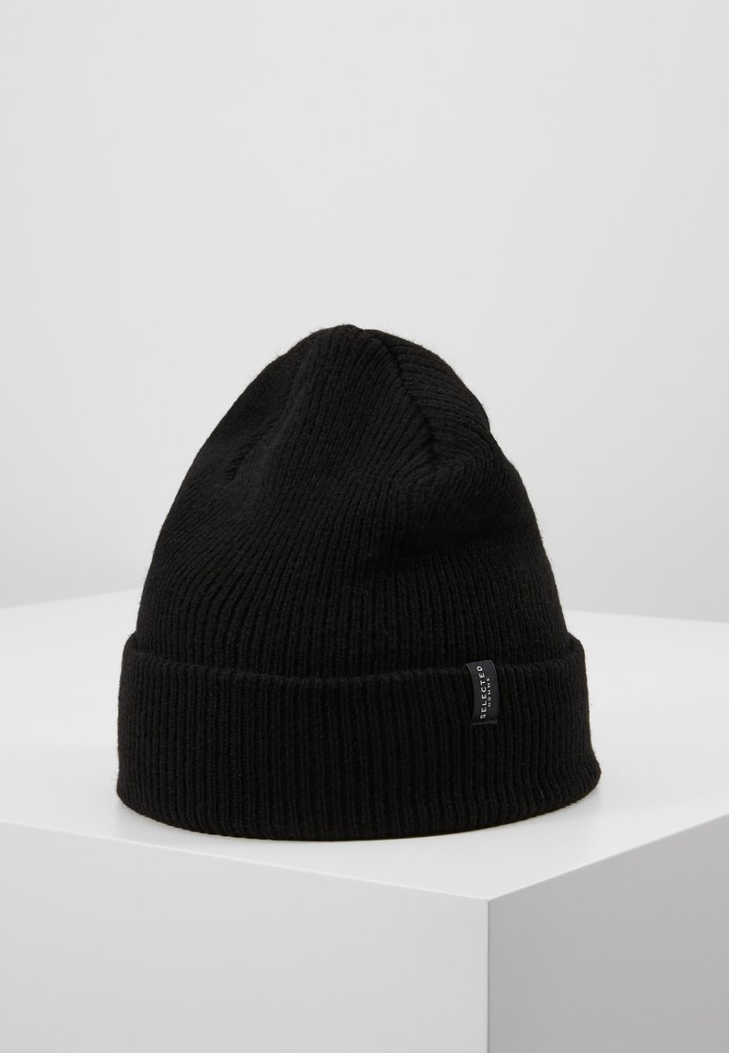 Selected Homme - SLHNEWWOOL BEANIE - Berretto - black