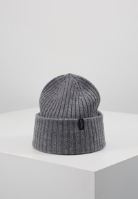 Selected Homme - SLHMERINO BEANIE - Čepice - medium grey melange - 0