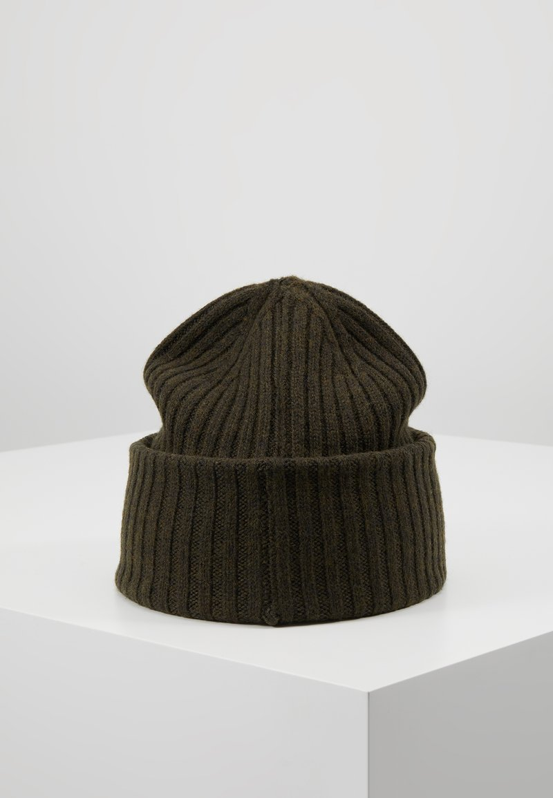 Selected Homme - SLHMERINO BEANIE - Pipo - olive night melange