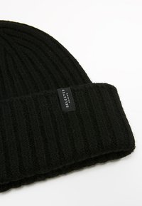 Selected Homme - SLHMERINO BEANIE - Lue - black - 4