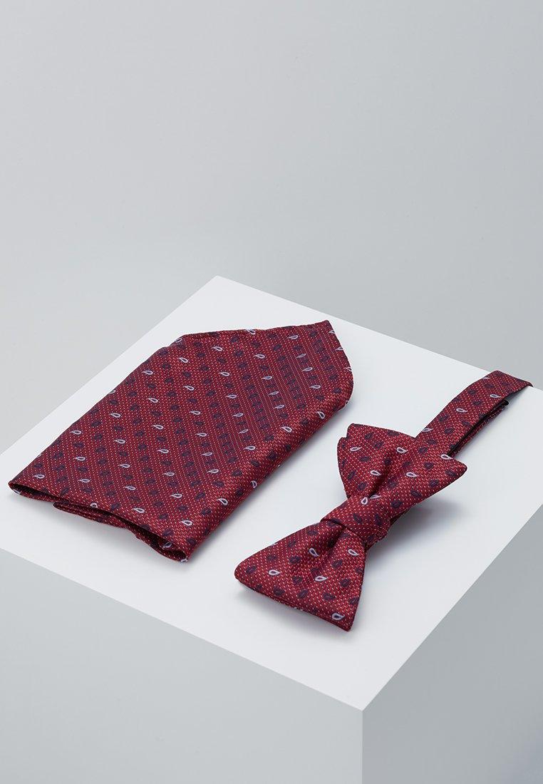 Selected Homme - SLHVICTOR TIE BOWTIE BOX SET - Poszetka - scarlet sage