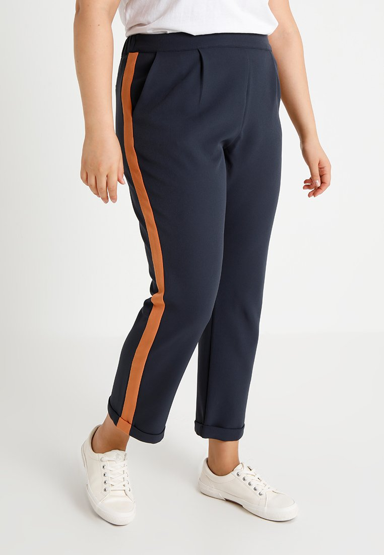 Second Script Curve - RACER STRIPE TROUSER - Trousers - nightshade