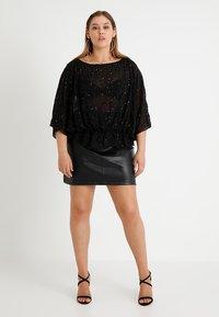 Second Script Curve - MAE SKIRT - Mini skirts  - black - 1