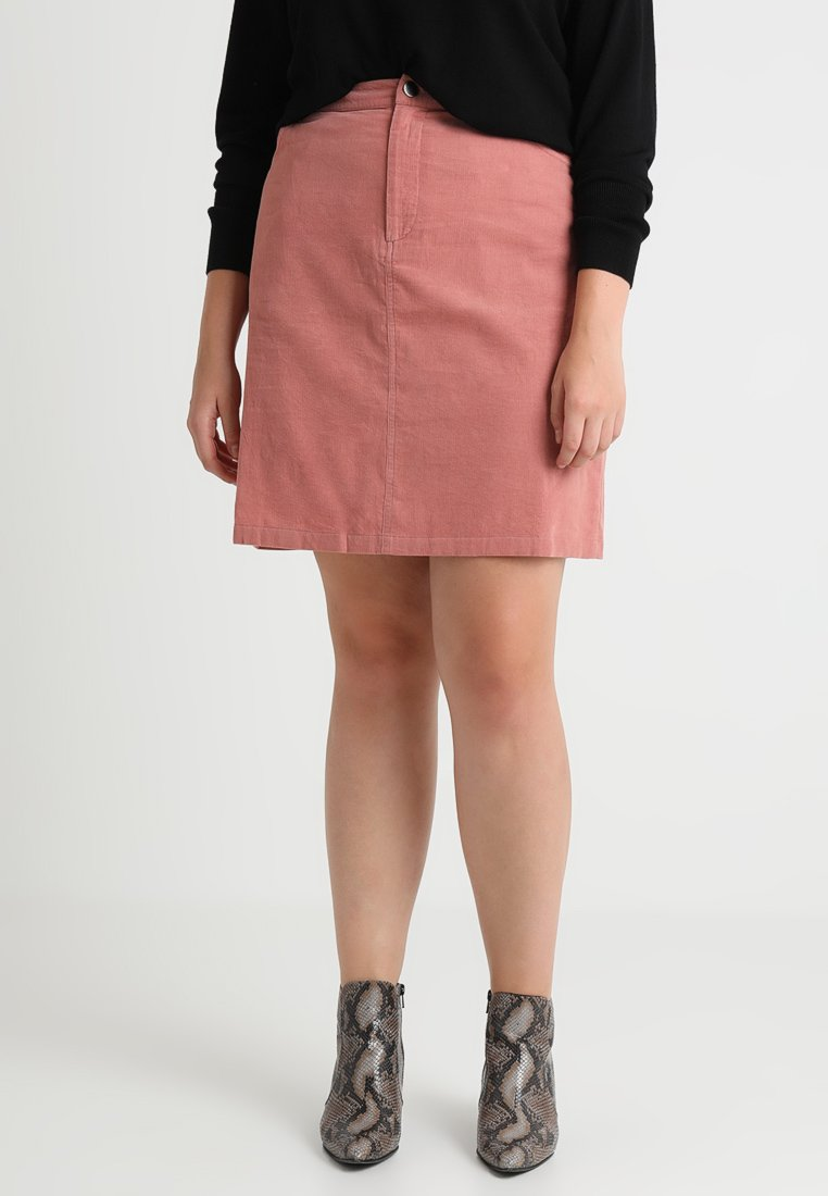 Second Script Curve - Mini skirt - chalk pink