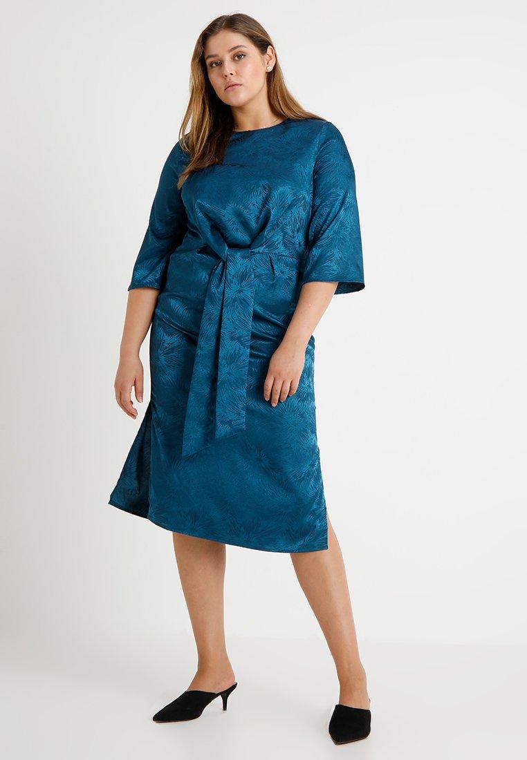 Second Script Curve - TIE FRONT DRESS - Korte jurk - atlantic deep