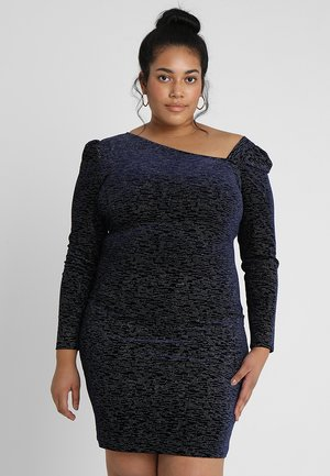 ASYMMETRIC PARTY DRESS - Koktejlové šaty / šaty na párty - navy