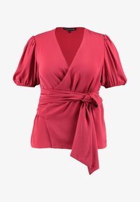Second Script Curve - CHARLI PUFF SLEEVE WRAP - Bluser - red - 4