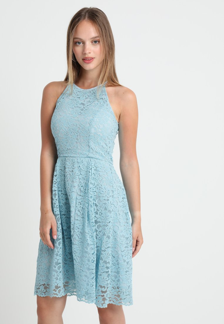 Second Script Petite - SUMMER HALTER DRESS - Hverdagskjoler - milky blue