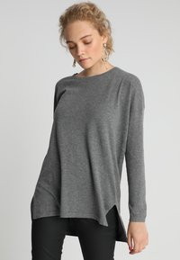 Second Script Petite - Sweter - pale grey marl - 0
