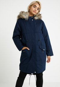 Second Script Petite - PERLA HOODED COAT - Parka - navy - 0