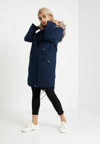 Second Script Petite - PERLA HOODED COAT - Parka - navy - 1