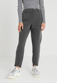 Selected Femme Petite - SLFAMILA PANT - Bukse - medium grey melange - 0