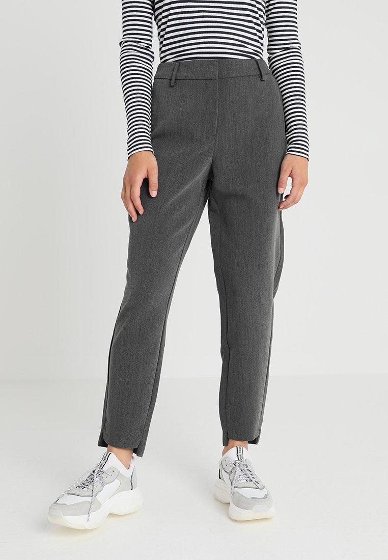 Selected Femme Petite - SLFAMILA PANT - Trousers - medium grey melange