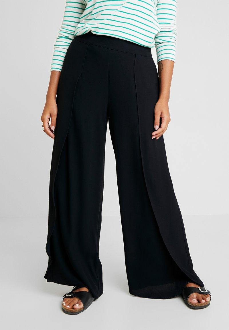 Selected Femme Petite - SLFUMA MPANT - Kalhoty - black
