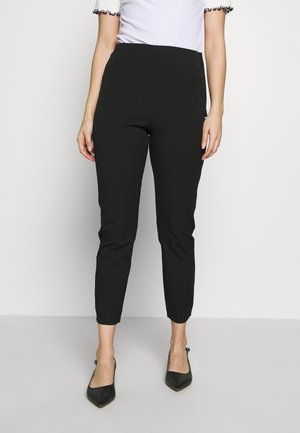 SLFILUE CROPPED SLIM PANT PETI - Pantalones - black