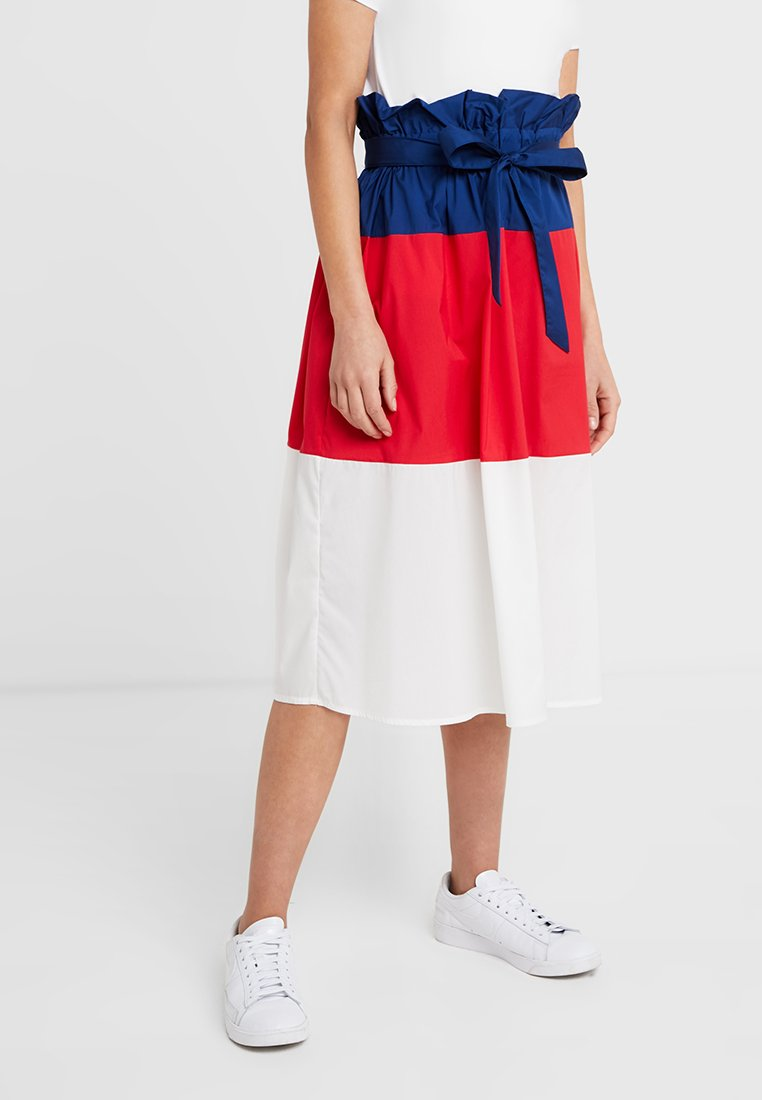 Selected Femme Petite - SLFLASH MIDI SKIRT - A-line skirt - blue depths