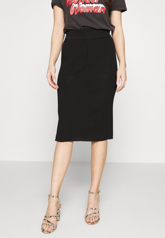SLFMARGE SKIRT - Gonna a tubino - black