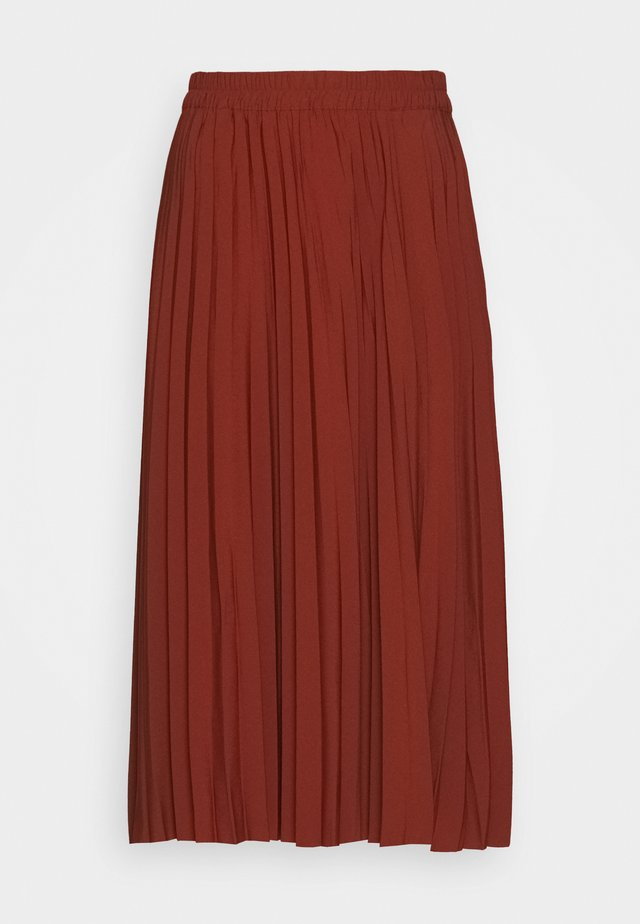 ALEXIS MIDI SKIRT PETITE - A-linjainen hame - red
