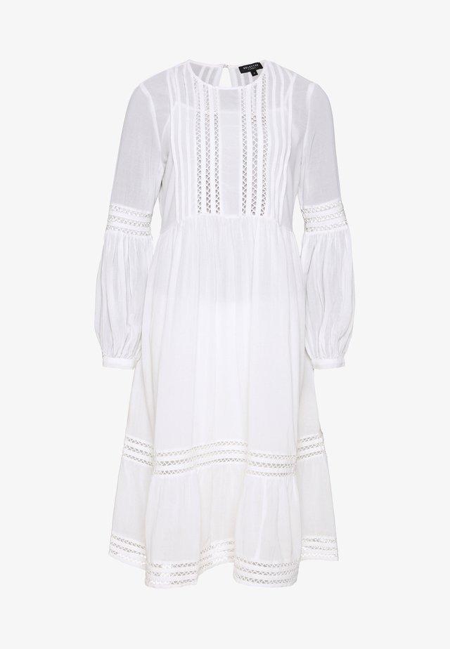 SLFVALENTINA MIDI DRESS PETITE - Day dress - snow white