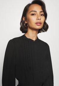 Selected Femme Petite - SLFLIVIA LS SHORT DRESS - Vestito estivo - black - 5