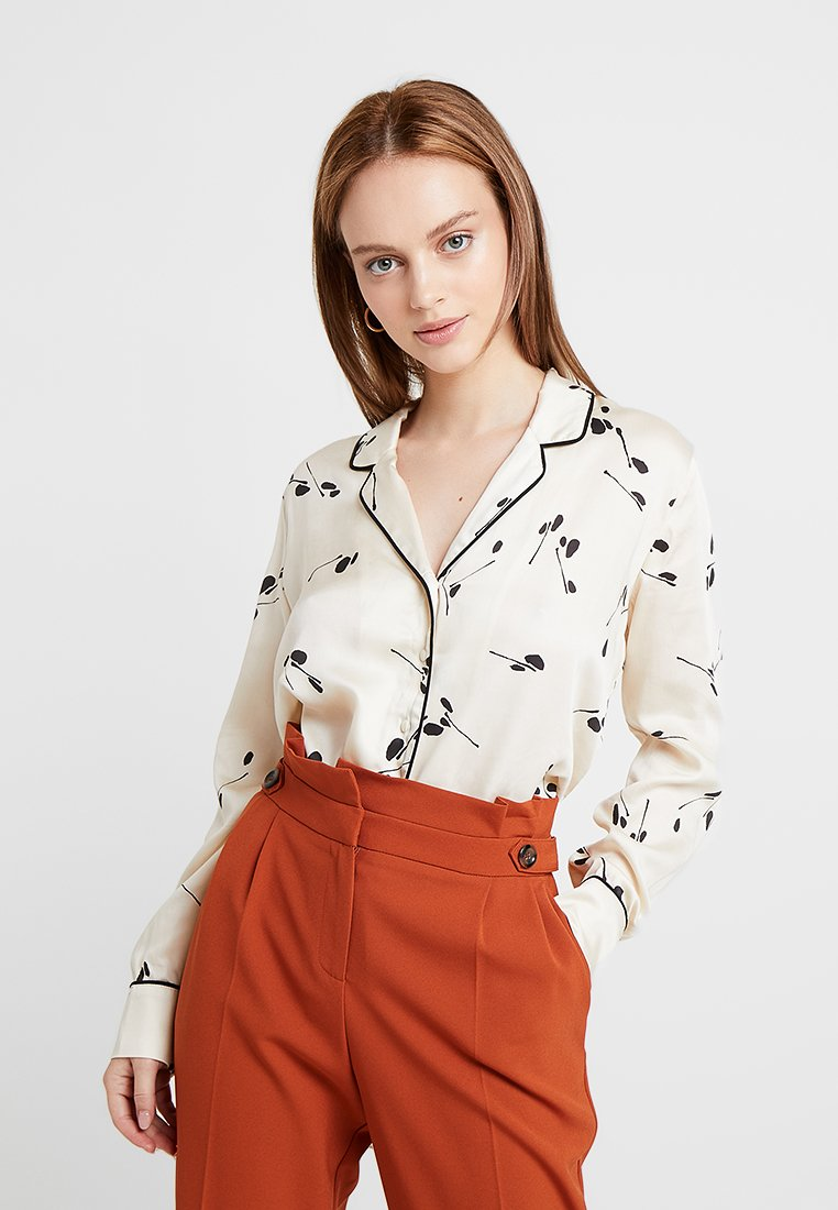 Selected Femme Petite - SLFPENNY - Button-down blouse - birch/black