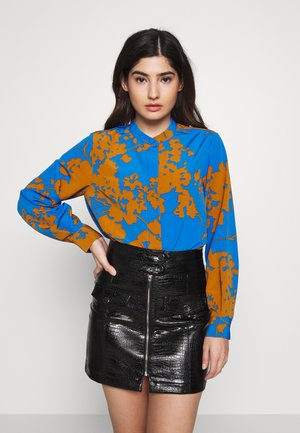 SLFJADE KATHY - Button-down blouse - blue