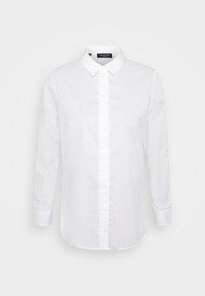 SLFORI SIDE ZIP PETIT - Skjorte - bright white