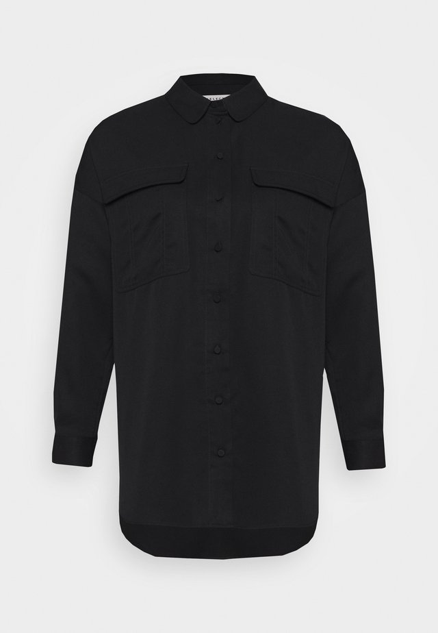 SLFMIRANDA LONG SHIRT PETITE - Blouse - black