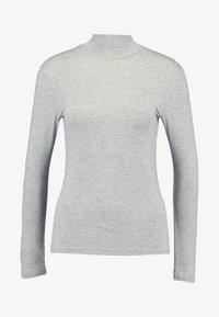 Selected Femme Petite - SFMIO HIGHNECK - Pitkähihainen paita - light grey melange - 3