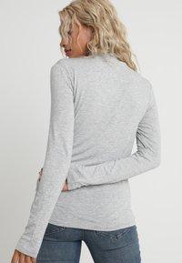 Selected Femme Petite - SFMIO HIGHNECK - Pitkähihainen paita - light grey melange - 2