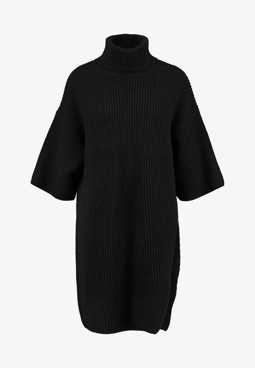 Selected Femme Petite SLFCAROLINE 3/4 LONG - Sweter - black Odzież Damska KIUP-UL2 dobry