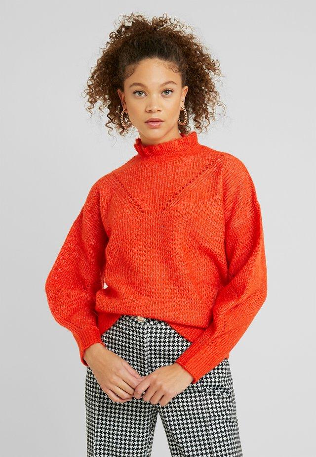 SLFINGA FRILL NECK - Jersey de punto - orange