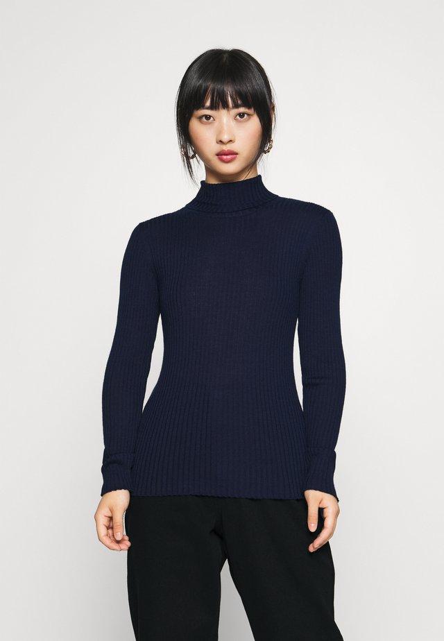 SLFCOSTA ROLLNECK - Stickad tröja - maritime blue