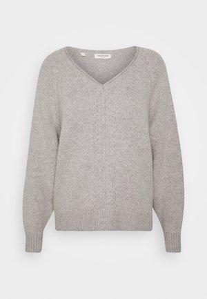 SLFMOLLY VNECK - Jumper - light grey melange