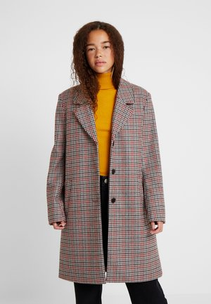 SLFSASJA CHECK COAT - Classic coat - chili oil