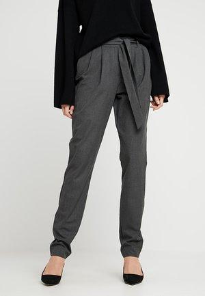 SLFBIO KIPAS PANT - Pantalones - dark grey melange
