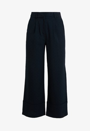 SLFGABBY CROPPED WIDE PANT - Trousers - dark sapphire