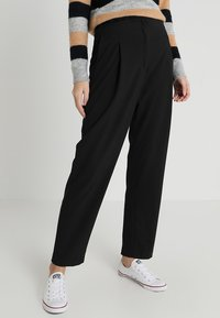 Selected Femme Tall - SLFADORA  ANKLE PANT TALL - Kalhoty - black - 0