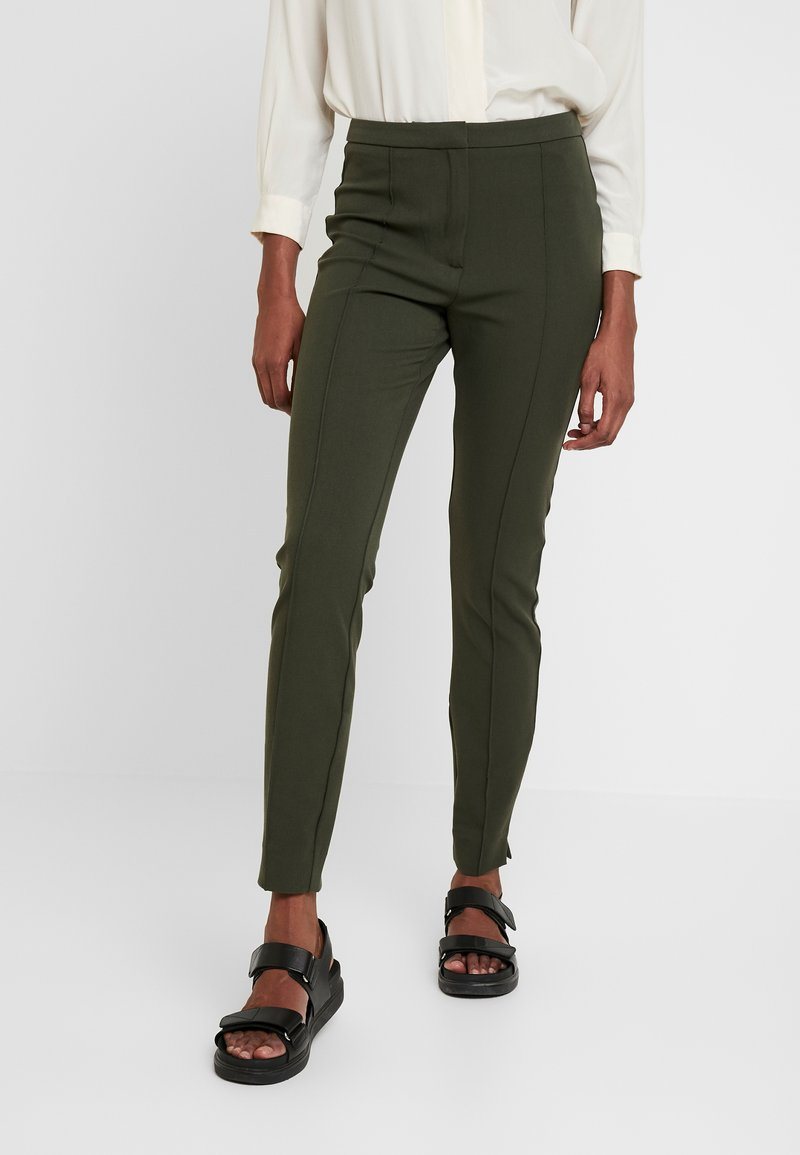 Selected Femme Tall - SLFILUE PINTUCK SLIT PANT - Trousers - rosin