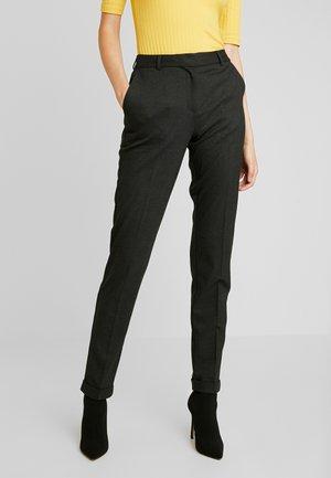 SLFLUNA ANKLE PANT - Kalhoty - dark grey melange