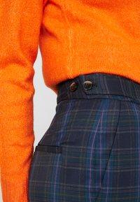 Selected Femme Tall - SLFTALE STRAIGHT PANT - Kalhoty - night sky/comb - 4