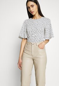 Selected Femme Tall - SLFNOLA CROPPED PANTS - Kalhoty - silver - 4
