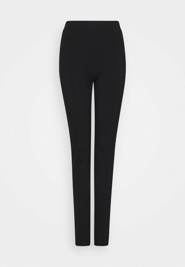 SLFCAROSLIM INTERLOCK PANT - Leggings - Hosen - black