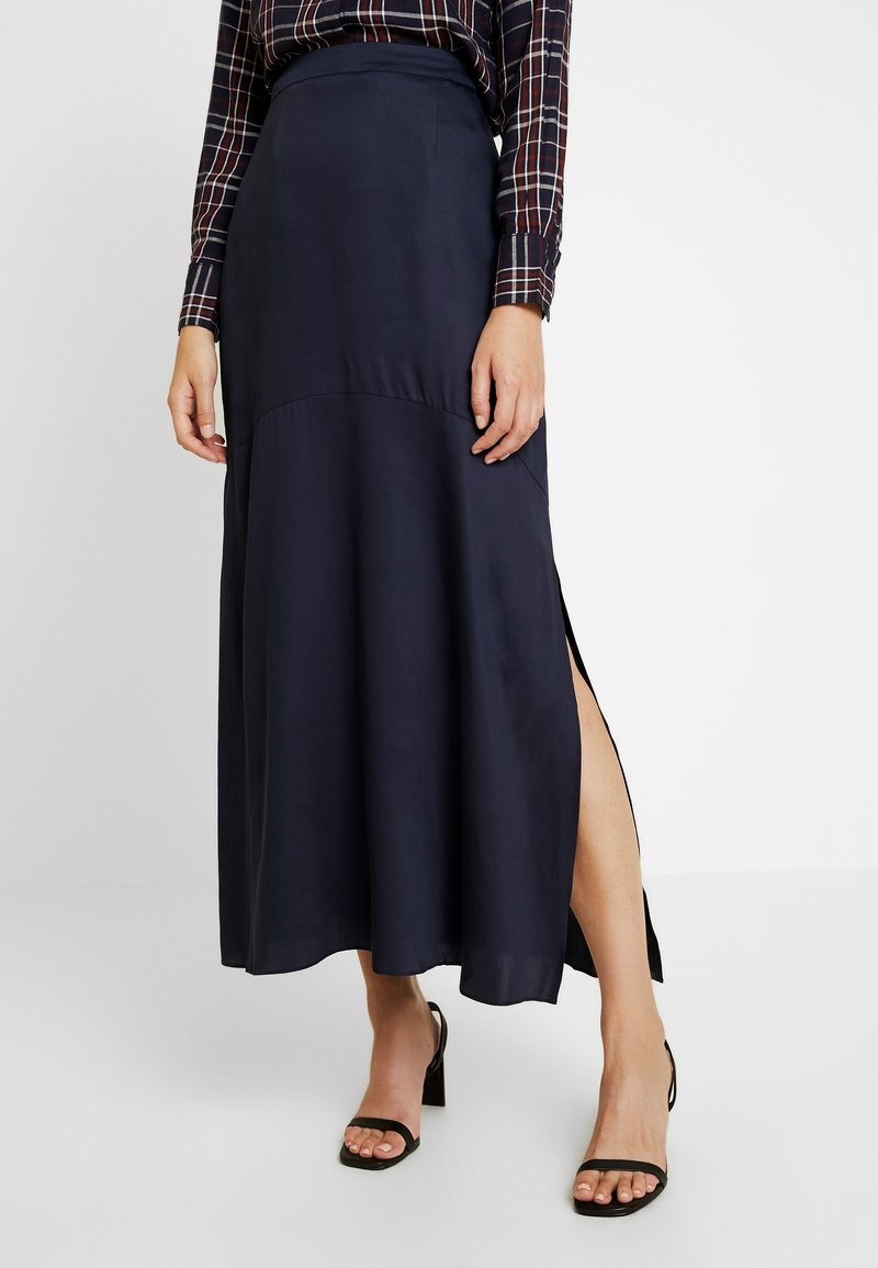 Selected Femme Tall - SLFPAIGE ANKLE SKIRT - Jupe longue - night sky
